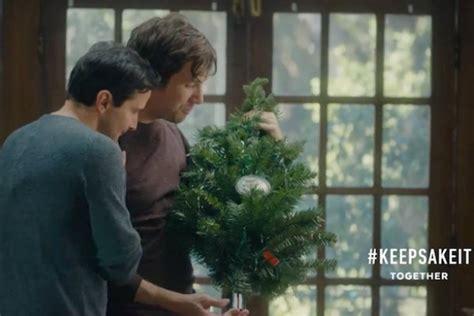 hallmark holiday ad features gay couple  top magazine