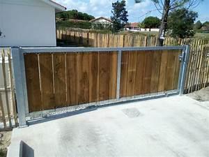 Portail En Bois : deck 40 portails sur mesure en acier galvanis et bois ~ Premium-room.com Idées de Décoration