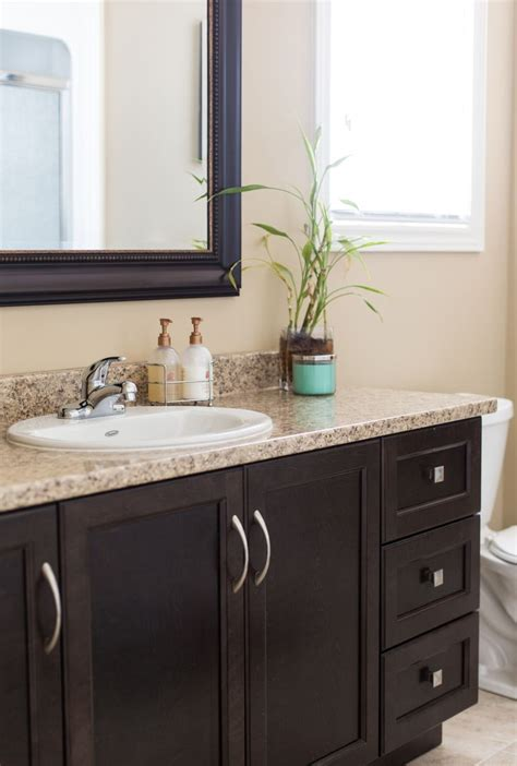 pin  neilcorp homes  bathrooms dark brown cabinets