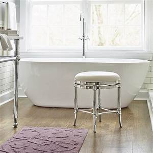Bailey vanity stool traditional vanity stools and for Bathroom vanity stools or chairs