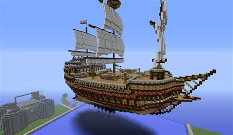 Minecraft Boat Hull by Floating Pirate Ship By Stickmenrocks On Deviantart