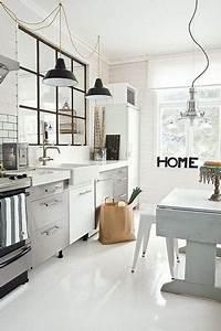 Cuisine Industrielle Ikea : cuisine industrielle blanche avec verri re atelier noire ~ Dode.kayakingforconservation.com Idées de Décoration