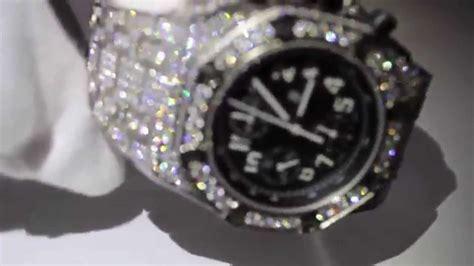 meek mill audemars piguet fully diamond iced  ap royal