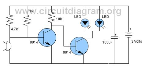 Sound Activated Led Flasher Circuit Circuitdiagram