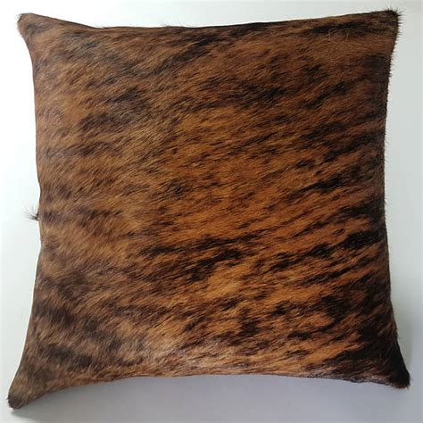 Brindle Cowhide Pillows - brindle cowhide pillow cover hide cushions skin leather