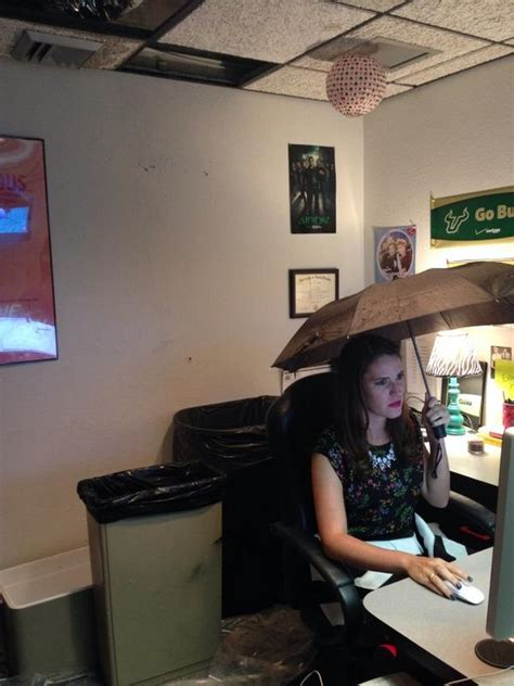 Office Desk Umbrella by My Today It S Raining In My Office At Cw44 Tabay