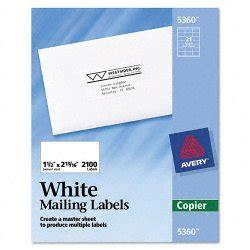 avery 5360 template avery dennison 5360 copier address labels 1 1 2 x 2 13 16 white 2100 box