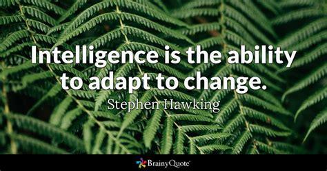 stephen hawking intelligence   ability  adapt