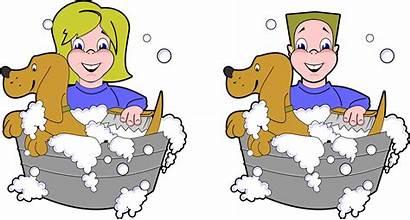 Dog Clipart Shampoo Washing Wash Pet Boy