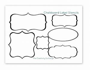 free printable stencils to make vinyl chalkboard labels With chalkboard stencils printable