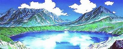 Mountain Anime Gifs Scenery Landscape Natureza Fairy