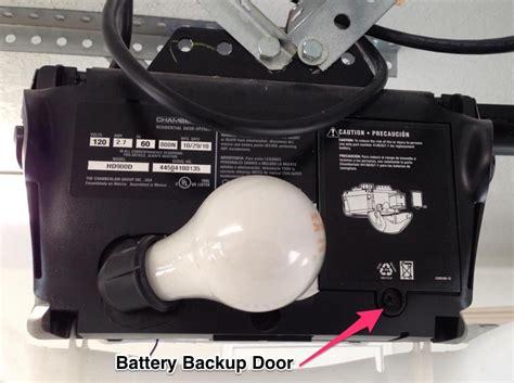 garage door battery backup garage door opener beeping replace the backup battery