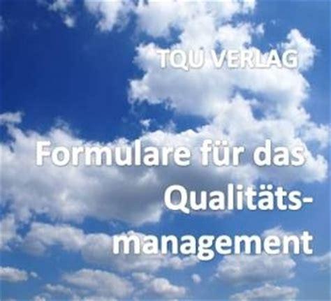 formulare und vorlagen fuer das qualitaetsmanagement
