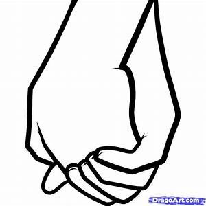 How to Draw Holding Hands for Kids, Step by Step, People ...