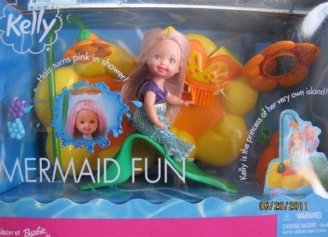 Barbie Mermaid Fun Kelly Doll Playset W