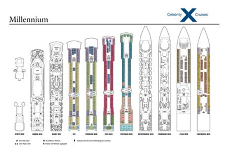 millennium deck plans cruises millennium kreuzfahrt