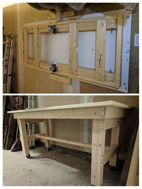 simple folding  portable workbench woodworking
