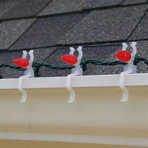 lights clips christmas hang gutters led clip outside hanging christmaslightsetc without gutter xmas way shingles holiday universal chart