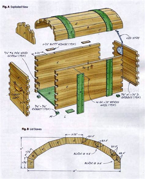 keepsake trunk plans woodarchivist