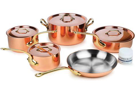cookware copper mauviel sets heritage handles 250b piece 5mm