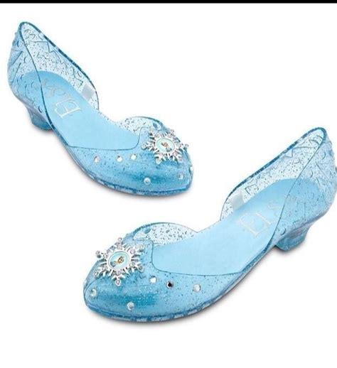 New Disney Store Frozen Elsa Costume Light Up Shoes Size