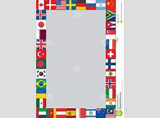 World flags icons frame stock vector Illustration of