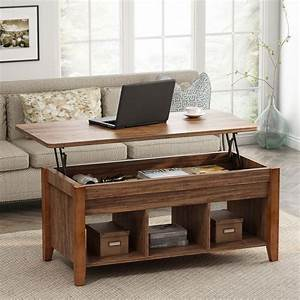 Tribesigns, Lift, Top, Floor, Shelf, Coffee, Table, With, Storage