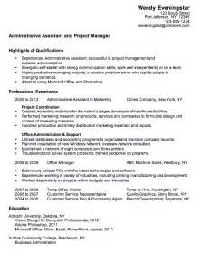 resume highlights for administrative assistant 10 sle administrative assistant resume writing resume