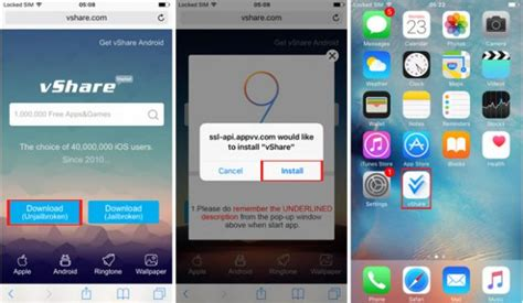 app not downloading how to install apps without jailbreak with vshare