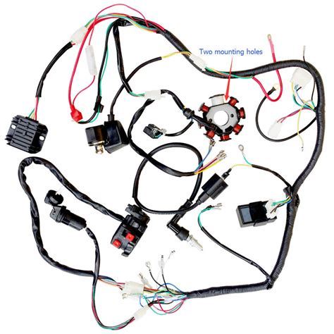 Atv Coil Wiring by Motorcycle Electrics Wiring Harness Loom Solenoid