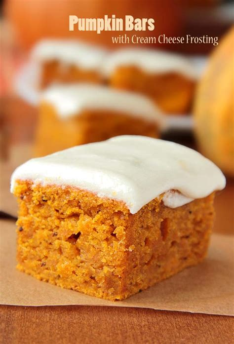 pumpkin bars pumpkin bars with cream cheese frosting sugar apron