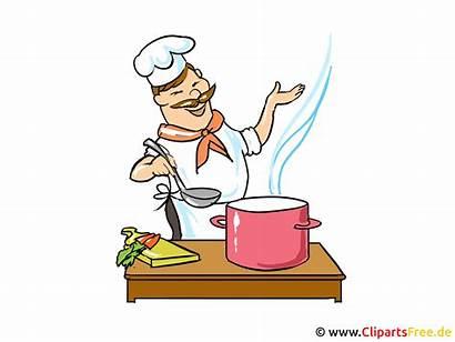 Koch Clipart Kochen Cartoon Bild Cuisinier Comic