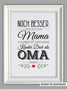 Was Kann Ich Meiner Mama Zum Muttertag Basteln : digitaldruck beste oma kunstdruck muttertag geschenk ein designerst ck von smart art ~ Buech-reservation.com Haus und Dekorationen