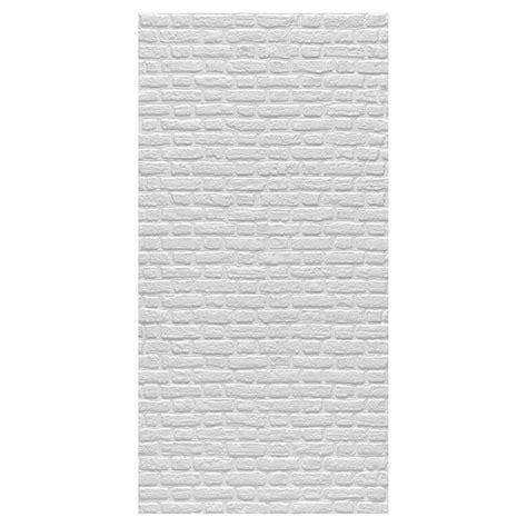 panneau mural effet de briques    blanc rona