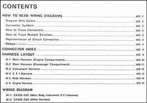 1989 Nissan Stanza Wiring Diagram Manual Original