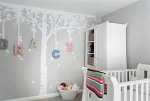 Decoration Murale Chambre Enfant : stickers chambre b b fille pour une d co murale originale ~ Teatrodelosmanantiales.com Idées de Décoration