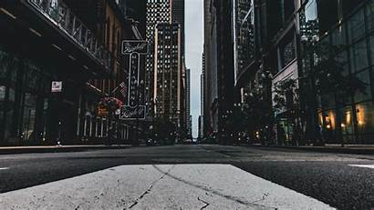 Street Buildings 4k Background Chicago Asphalt Usa