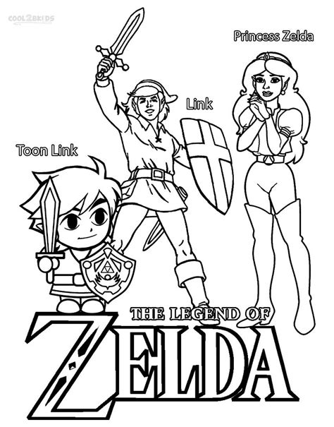 zelda coloring pages    print