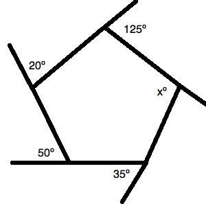 find  angle   pentagon act math