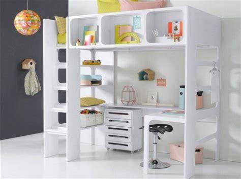 lit mezzanine bureau ado lit mezzanine avec bureau pour fille visuel 3