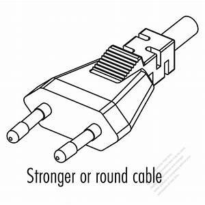 Germany 2-pin Straight Ac Plug  2 5a 250v