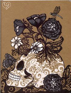 Very Cool Idea For Abstract Sugar Skull Tattoo Might