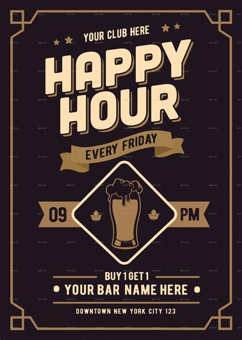 happy hour menu designs templates psd ai