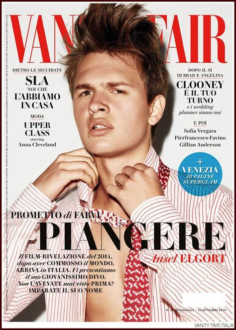 vanity fair magazine ansel elgort shows his family for paper mag shine on
