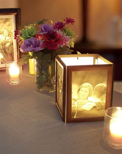 table centerpieces using photos decorating ideas contemporary wedding table accessories