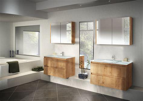 cuisiniste salle de bain salle de bains modèle rivage en stratifié décor scié gris