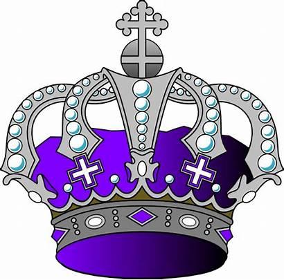 Crown Purple Silver Clipart Royal King Princess