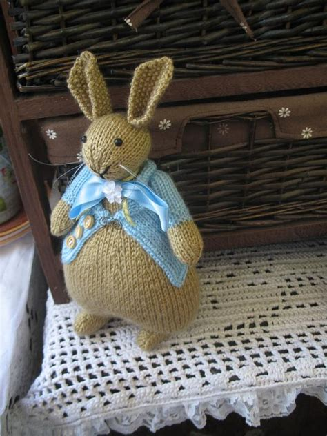 knitted bunny peter rabbit beatrix potter