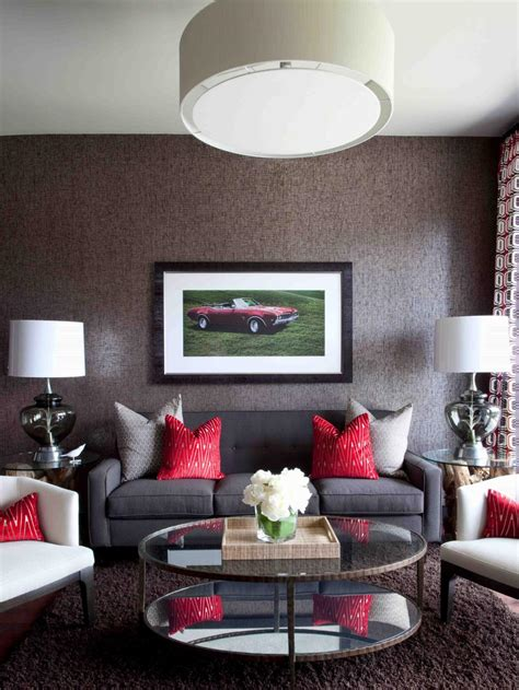 Contemporary Living Room On A Budget by High End Bachelor Pad Decorating On A Budget Hgtv