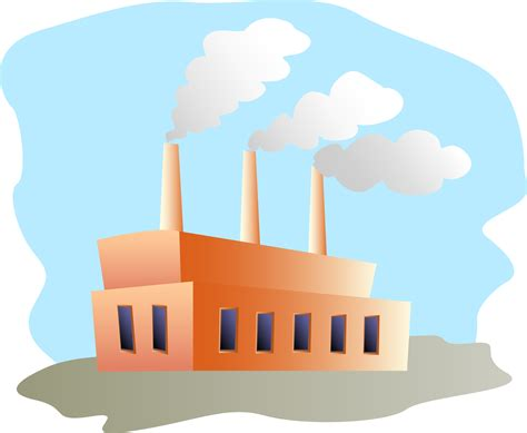 Factory Clipart Factory Clipart Building Pencil And In Color Factory